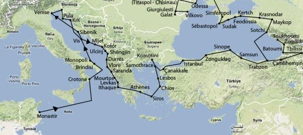 French media cruise map